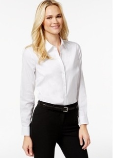 Charter Club Petite Solid Button-Down Shirt, Only at Macy's