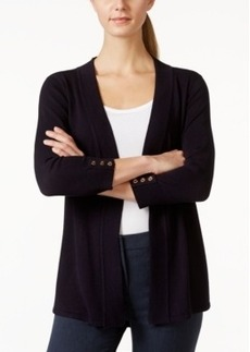 Charter Club Solid Open-Front Cardigan, Only at Macy's
