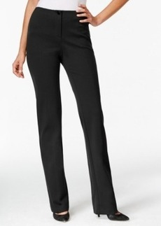 Charter Club Solid Straight-Leg Pants