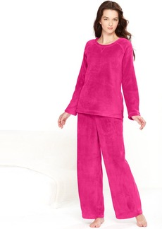 Charter Club Solid Supersoft Top and Pajama Pants Set