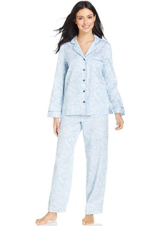 Charter Club Spa Woven Notch Collar Pajama Set