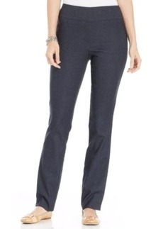Charter Club Petite Straight-Leg Chambray Pants, Only at Macy's