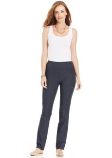 Charter Club Straight-Leg Chambray Pants