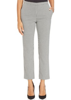 Charter Club Straight-Leg Houndstooth Ankle Pants