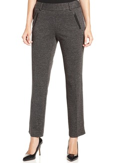 Charter Club Straight-Leg Textured Pants