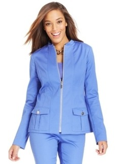 Charter Club Stretch Zip-Front Suit Jacket