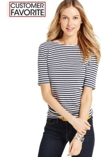 Charter Club Striped Boat-Neck Top