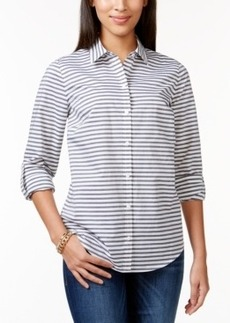 Charter Club Striped Button-Down Shirt, Only at Macy's