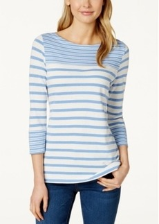 Charter Club Striped Knit Top, Only at Macy's