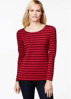 Charter Club Striped Metallic Trim Top, Only at Macy's
