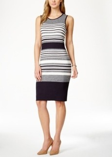 Charter Club Striped Sweater Dress, Only at Macy's
