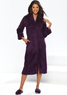 Charter Club Supersoft Dimple Long Zip Robe