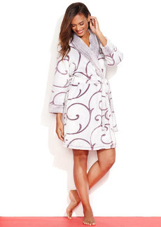 Charter Club Textured Scroll Supersoft Robe