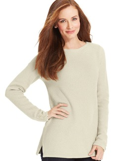 Charter Club Petite Textured Tunic Sweater