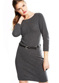 Charter Club Three-Quarter-Sleeve Cashmere Sweaterdress