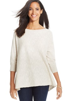 Charter Club Three-Quarter-Sleeve High-Low Sweater
