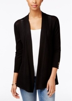 Charter Club Three-Quarter-Sleeve Open Cardigan, Only at Macy's