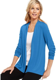 Charter Club Top, Long-Sleeve Cardigan