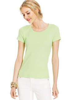 Charter Club Top, Short-Sleeve Cotton Crew-Neck