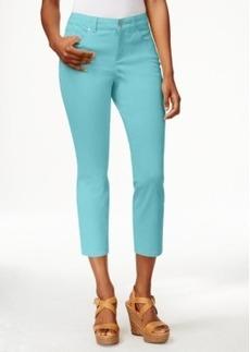 Charter Club Tummy-Control Capri Jeans, Colored Wash