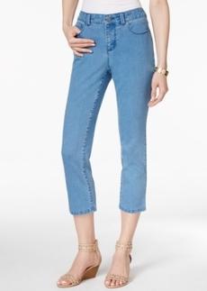 Charter Club Tummy-Control Cropped Skinny Jeans, Lago Wash