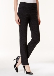 Charter Club Tummy-Control Pull-On Pants, Polka-Dot Print