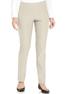 Charter Club Tummy-Control Pull On Slim-Leg Pants