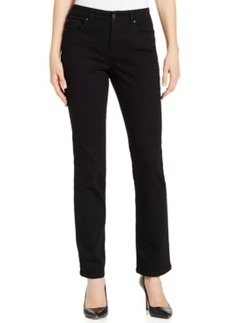 Charter Club Lexington Straight Leg Jeans, Black Wash