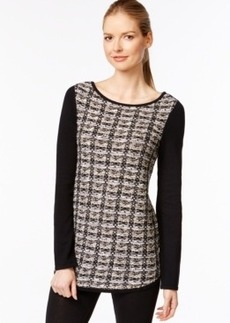 Charter Club Tweed Combo Tunic, Only at Macy's