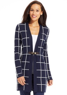 Charter Club Windowpane Plaid Cardigan