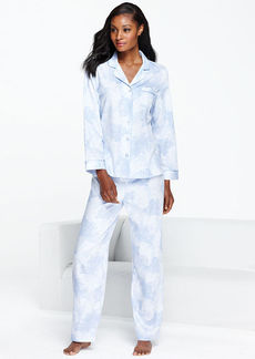 Charter Club Woven Notch Collar Top and Pajama Pants