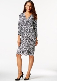 Charter Club Wrap Dress, Lace Print