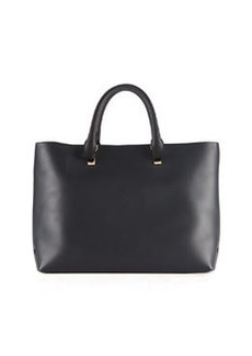 Baylee Bicolor Tote Bag, Gray/Black   Baylee Bicolor Tote Bag, Gray/Black