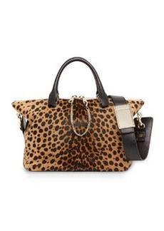 Baylee Calf Hair Medium Satchel Bag, Leopard   Baylee Calf Hair Medium Satchel Bag, Leopard