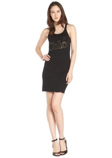black stretch cotton 'Chloe' sleeveless dress