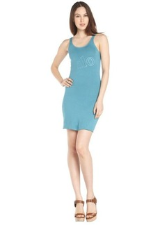 blue stretch cotton 'Chloe' sleeveless dress