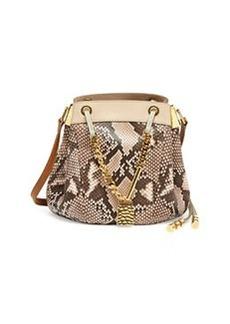 Camille Small Python Crossbody Bag, Pink   Camille Small Python Crossbody Bag, Pink