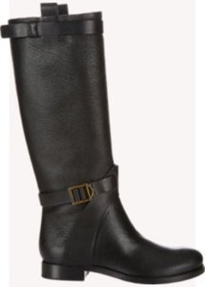 Chloé Buckle-Strap Knee Boots