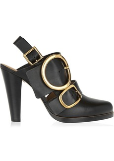 Chloé Buckled leather pumps
