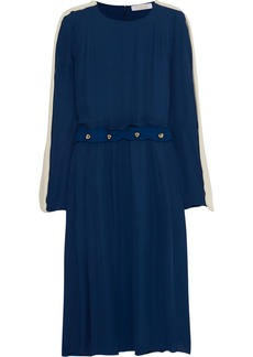 Chloé Button-embellished silk-georgette dress