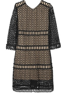 Chloé Crocheted wool and cotton-blend mini dress