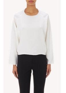 Chloé Crêpe de Chine-Front Sweater