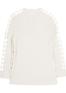 Chloé Cutout cashmere and silk-blend sweater
