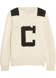 Chloé Intarsia cotton-blend sweater
