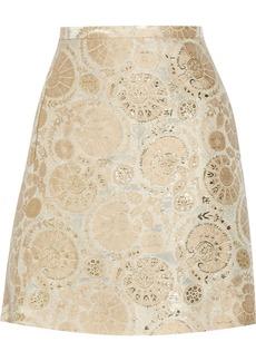 Chloé Metallic jacquard mini skirt