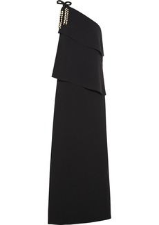 Chloé One-shouldered tiered crepe maxi dress