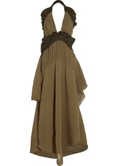 Chloé Plissé georgette maxi dress