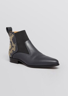 Chloé Pointed Toe Flat Booties - Half Studded