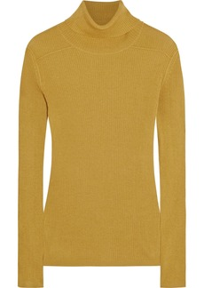 Chloé Ribbed silk and cotton-blend turtleneck sweater
