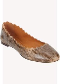 Chloé Snakeskin Scalloped Flats